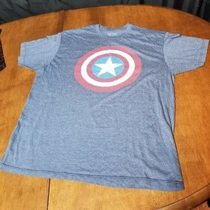 Standard T Shirt Shirts - B38 Marvel Captain America XL T Shirt